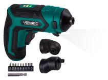 Cordless screwdriver 4V | Incl. 9-pcs bit set, quick charger and toolbag