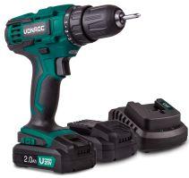 Cordless drill 20V set 2.0Ah 2 batteries