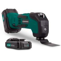 Oscillating Multi Tool 20V | Incl. 2x 2.0Ah battery, quick charger and accessories