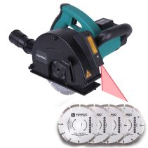 Wall chaser 1700W with laser guidance | Incl. 6 diamond discs