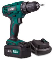 Cordless drill 20V set 4.0Ah