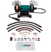 Bench grinder 150W-75mm | With 195 accessories and flexible drive shaft
