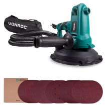 Drywall Sander 750W - 180mm | Incl. dust collection bag and 33 sanding papers