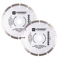 Diamond cutting discs 150mm - 2 pcs   Universal