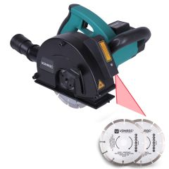 Wall chaser 1700W - 150mm with laser | Incl. 4 diamond discs